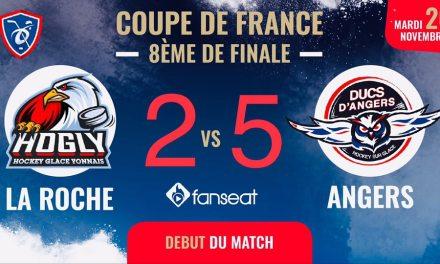 Coupe de France (8e de finale) : Les Ducs d'Angers se sont fait peur à la Roche-sur-Yon (5-2).