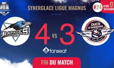 Ligue Magnus (24e journée) : Angers s'incline lors de la séance des tirs au but à Gap (4-3).
