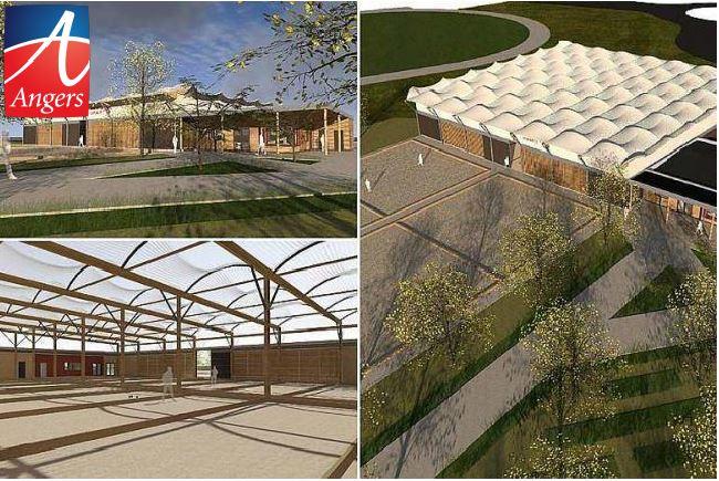La pose de la première pierre du nouveau boulodrome complète la restructuration du parc des sports de la Baumette.