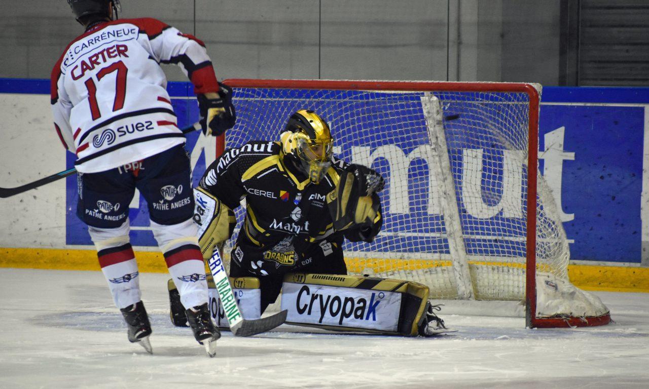 Ligue Magnus (31e journée) : Angers fait tomber le leader Rouennais (3-2).