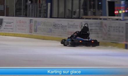 Démonstration de karting sur glace à Angers !