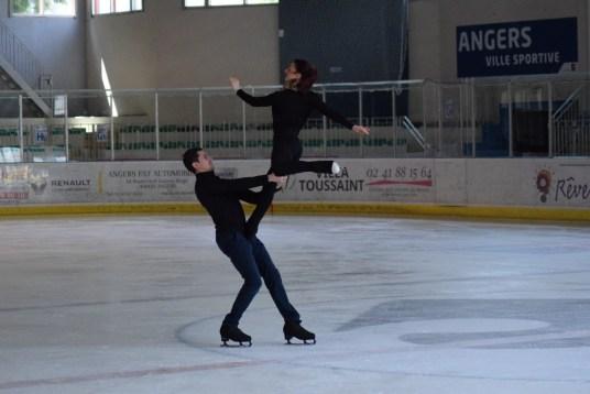 Marie-Jade Lauriault et Romain Le Gac à l'entraînement (Photo : Jimmy Joubert)