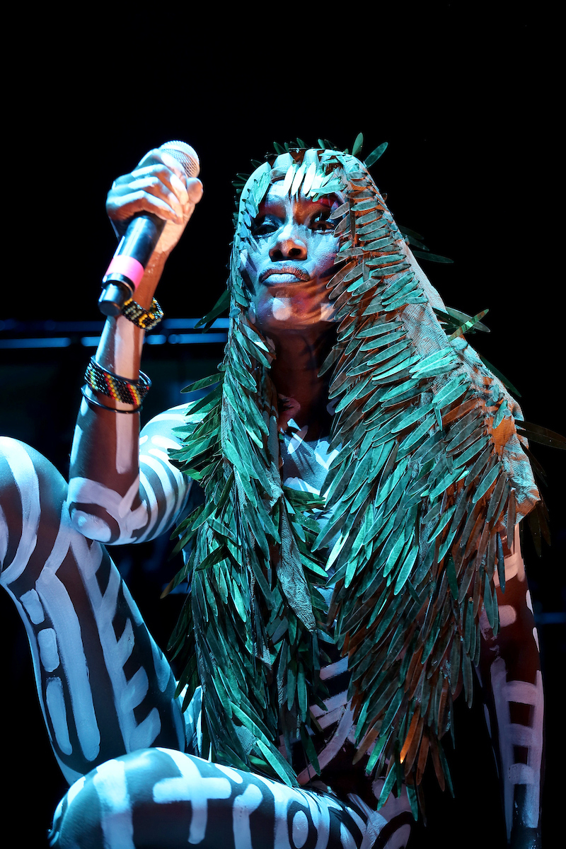 Grace Jones at Main Stage by Elli Papanopoulos for FYF Fest