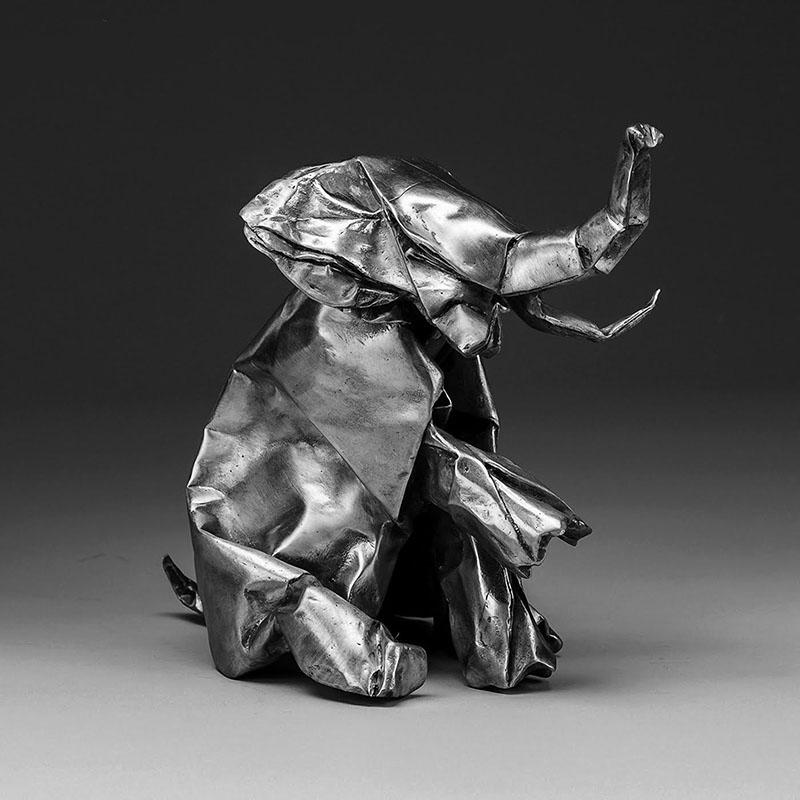 black origami