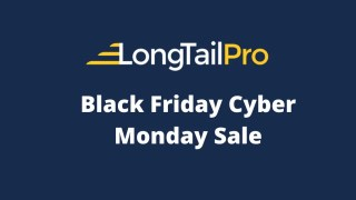 Long Tail Pro Black Friday Cyber Monday