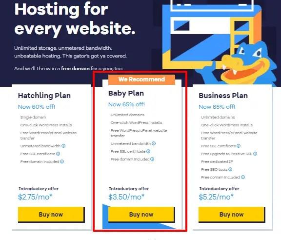 How to Buy Hosting From Hostgator