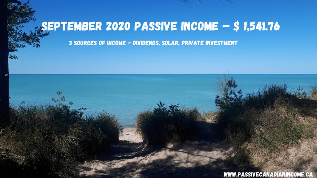 September 2020 Passive Income