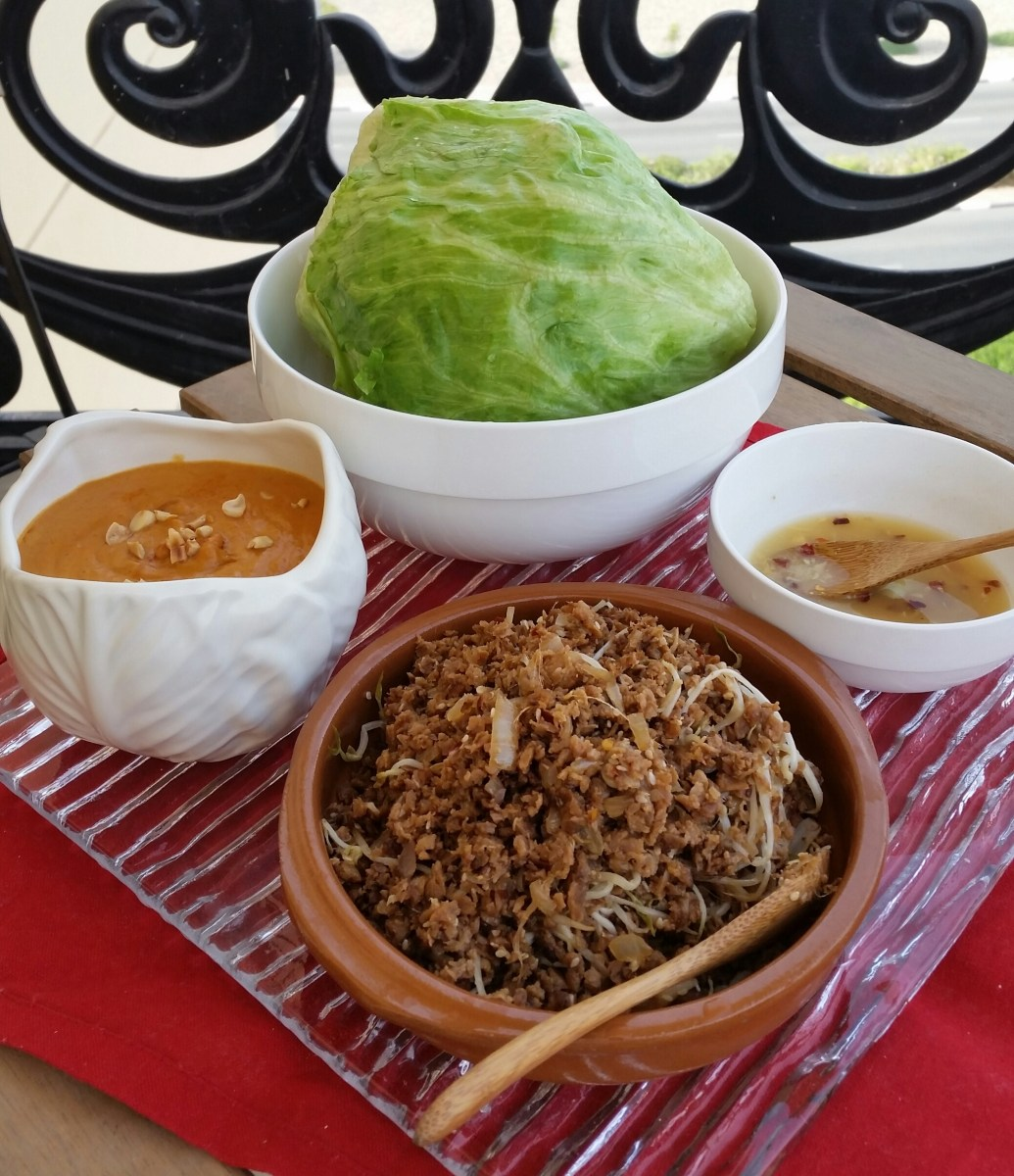 Lettuce Wraps with Vegan Soy Protein Mince