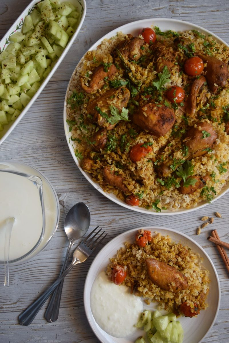 Brown Rice Chicken Biryani