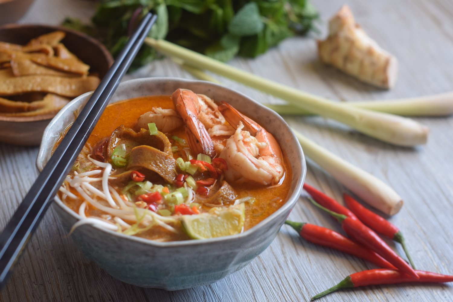 Kuching Style Laksa Recipe by Anthony Bourdain (serves 4)