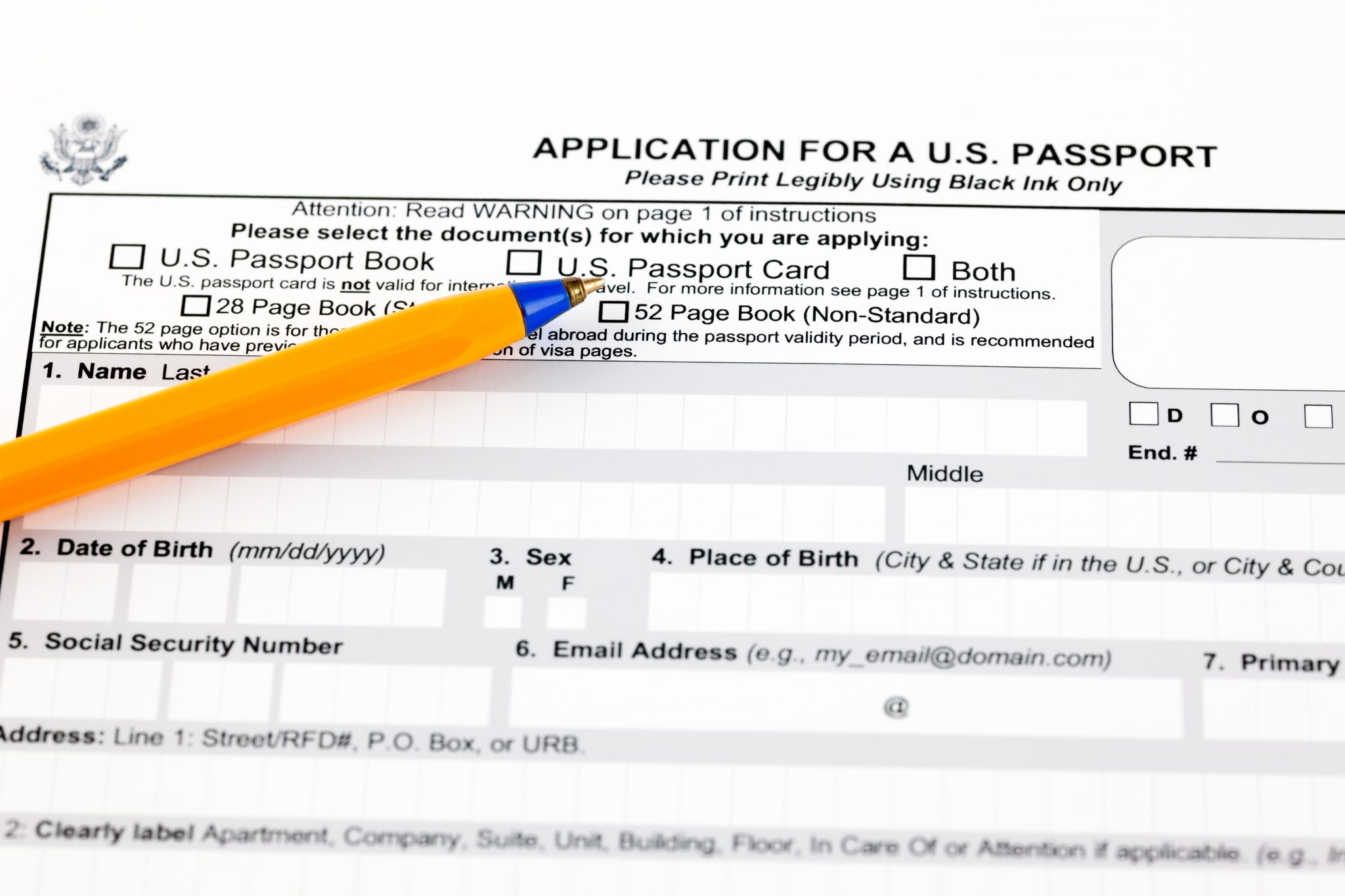 Complete The DS-11 New Passport Application Form