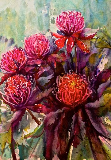 australia watercolour georgia mansur daniel smith paints native flowers