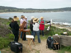 Geo teaching at Carmel beach