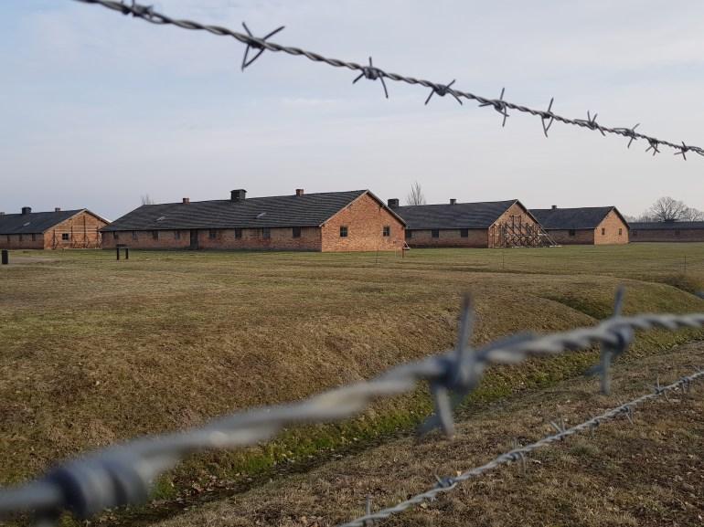 Barracks where prisoners were kept in Birkenau