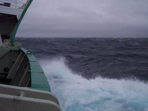 Rough seas crossing the Drake Passage to Antarctica