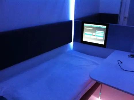 Napcabs Munich Aiport Interior & TV