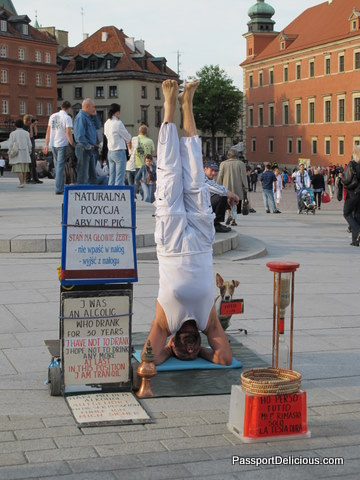 Man Standing on Head, Warsaw
