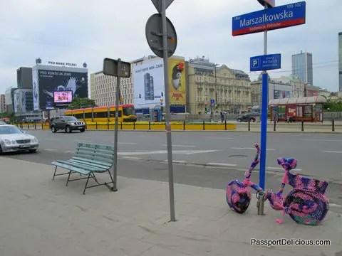 Yarn Bombing in Warsaw