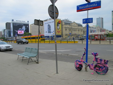 Yarn Bombing in Warsaw