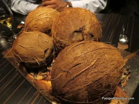 Coconut, corn, egg, licorice