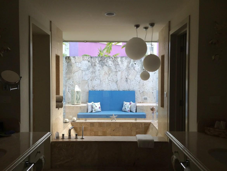 Eden Roc Cap Cana Bathtub and outdoor shower