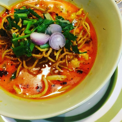 Making Khao Soi at a local cooking school is one of the top things to do in Chiang Mai