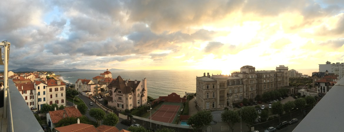 Things to do in Biarritz: Catch the sunset from the rooftop bar at the Radisson Blu