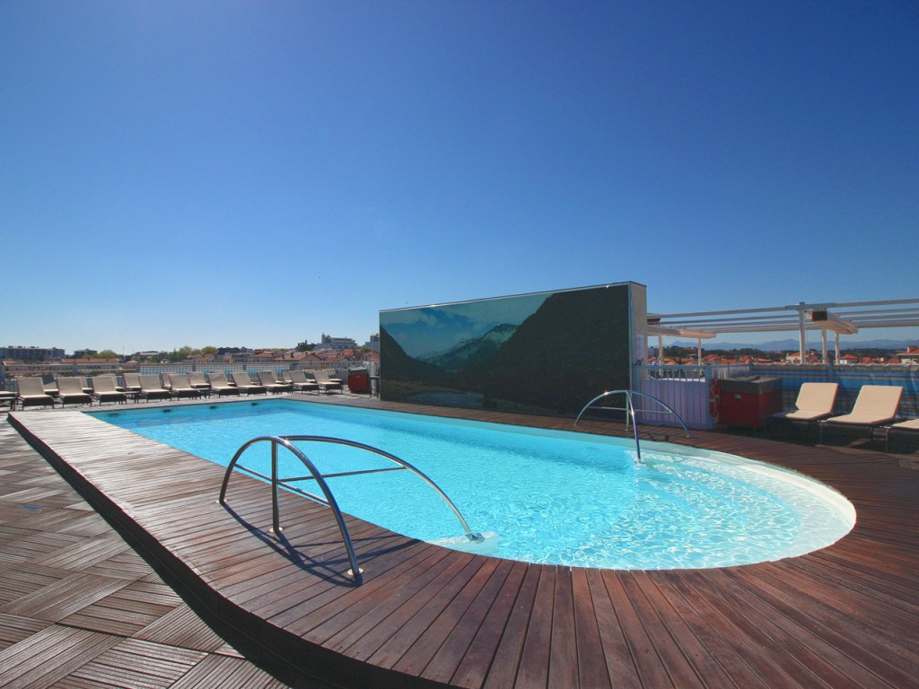 Rooftop Pool at the Radisson Blu Biarritz Hotel
