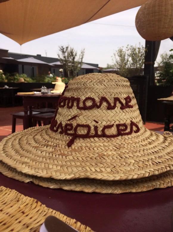 Terrasse des espices...don't forget your hat!