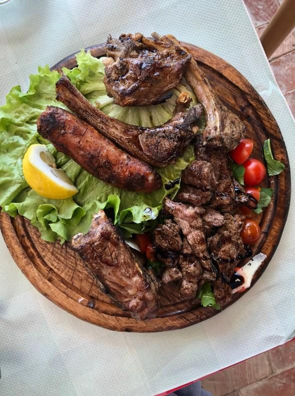 Uka Farm meat platter