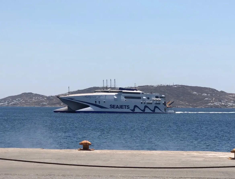 At Mykonos Port: The Ferry from Mykonos to Paros