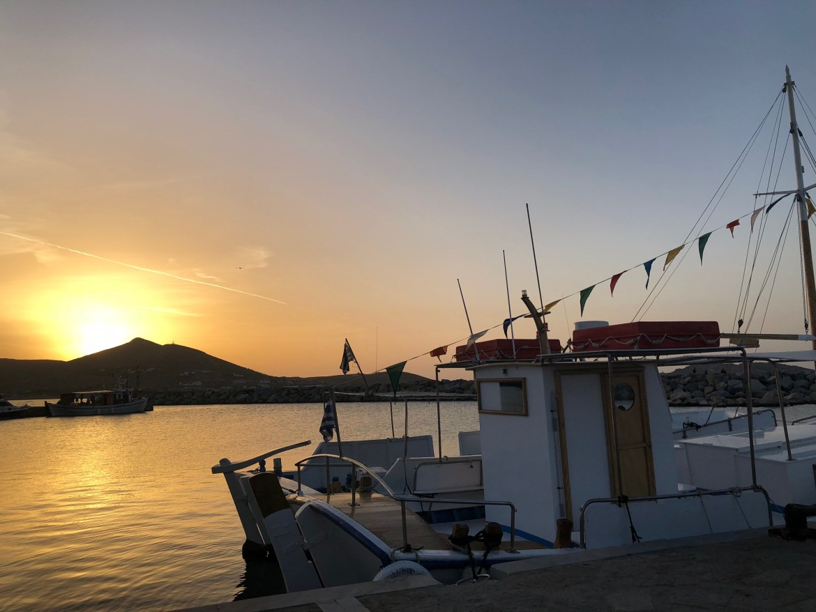 What to Do in Paros: Check Out the Sunset from the Old Port in Naoussa
