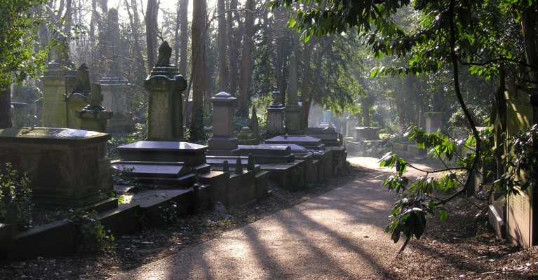 Highgate Cemetery. Photo from Highgate Cemetery Website.
