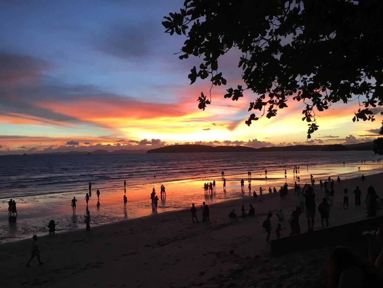 Sunset in Ao Nang, Thailand