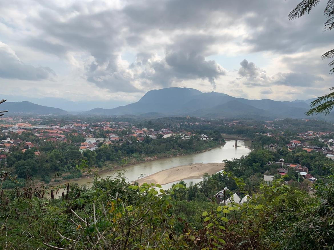 The view from the top of Mount Phousi in Luang Prabang