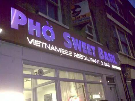 Pho sweet basil outside