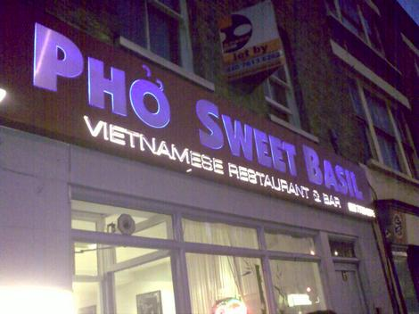 Pho sweet basil outside