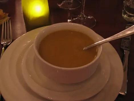 Dubai thyme pumpkin soup