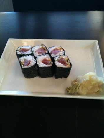 Teshi spicy tuna rolls