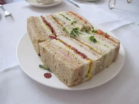 Tea at browns sandwiches