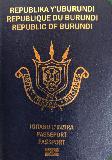 Passport cover of Burundi
