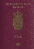 Passport cover of Denmark MOST POWERFUL PASSPORT RANK