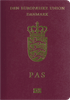 Passport cover of Denmark