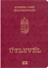 Passport cover of Hungary MOST POWERFUL PASSPORT RANK