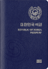 Passport cover of South Korea