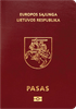 Passport cover of Lithuania MOST POWERFUL PASSPORT RANK