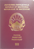 Passport cover of Macedonia (FYROM)