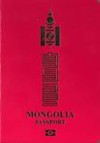 Passport cover of Mongolia