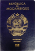Passport cover of Mozambique