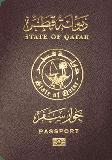 Passport cover of Qatar